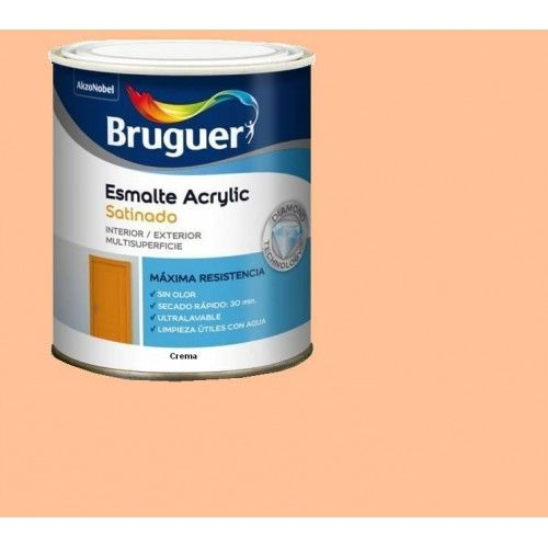 ESMALTE ACRILICO SATINADO BRUGUER - 1507 CREMA-750ML