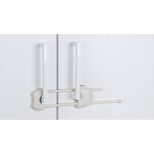 Cierre seguridad armarios - blanco adhesivo