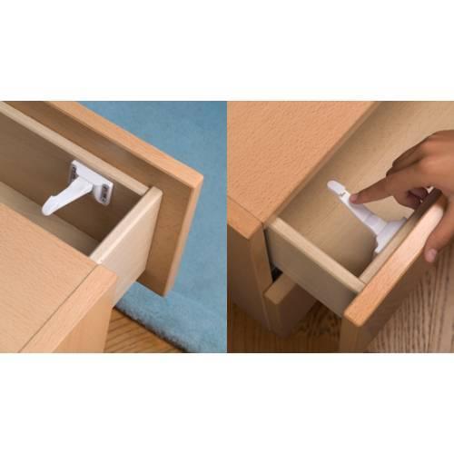 Cierre seguridad interior armario - blanco adhesivo (2ud)