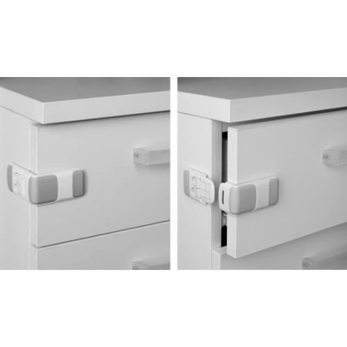 Cierre seguridad lateral - blanco adhesivo