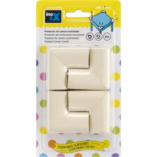 Protector de cantos adhesivo acolchado - blanco (4ud)