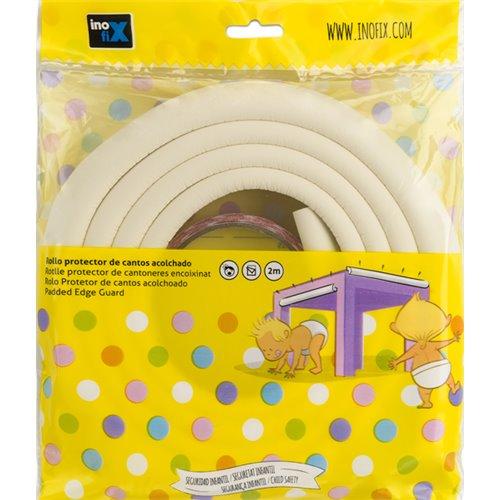 Protector de cantos adhesivo acolchado - blanco (rollo 2m)