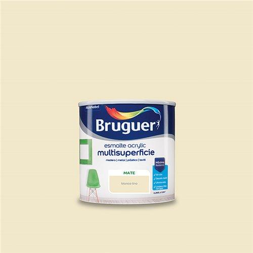 Esmalte acrilico mate Bruguer - blanco lino - 250 ml