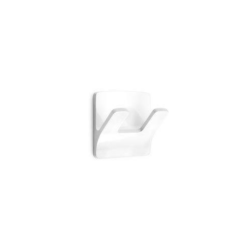 Colgador 2192-2 - adhesivo rama doble blanco