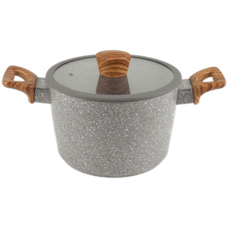 Olla con tapa de aluminio forjado en piedra - Mayestic