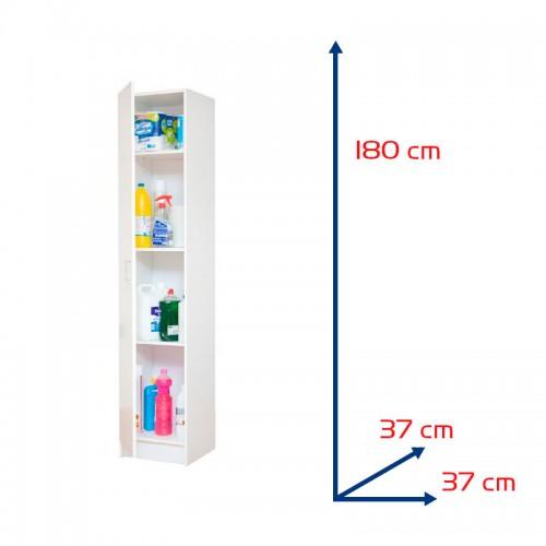 Armario multiusos de 1 puerta con baldas - Sbrico