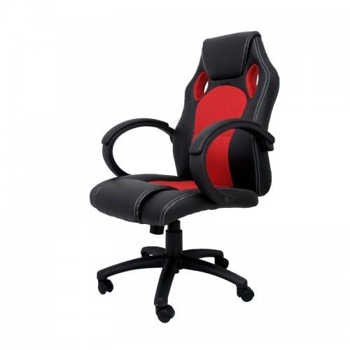 Silla de Escritorio Gaming OLIMPIA - Furniture Style - Negro/Rojo
