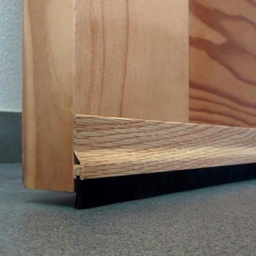 Burlete para Bajo de Puerta Adhesivo de Aluminio con Cepillo - Burcasa - Roble - 92 cm