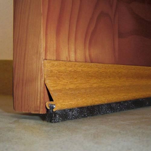 Burlete para Bajo de Puerta Adhesivo de PVC con Flecos - Burcasa - Sapely - 93.5 cm