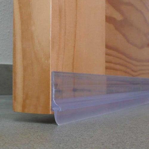 Burlete para Bajo de Puerta Adhesivo de PVC con Labio - Burcasa - Transparente - 1 m