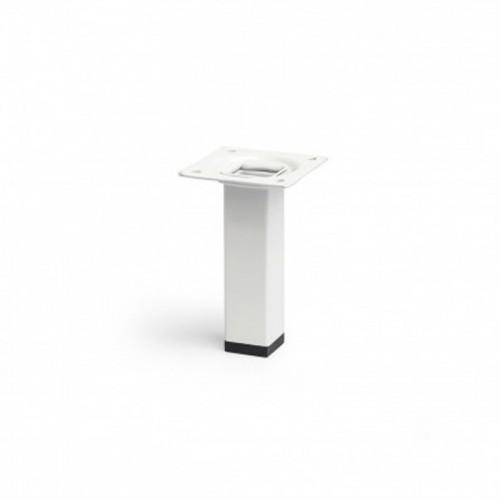 Pata Cuadrada de Acero - REI - Blanco - 25 x 25 x 100 mm