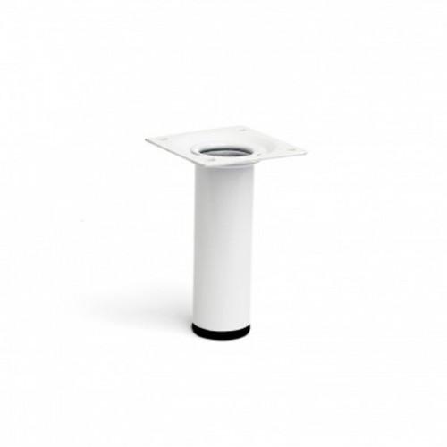 Pata Cilíndrica de Acero - REI - Blanco - 25 x 25 x 100 mm