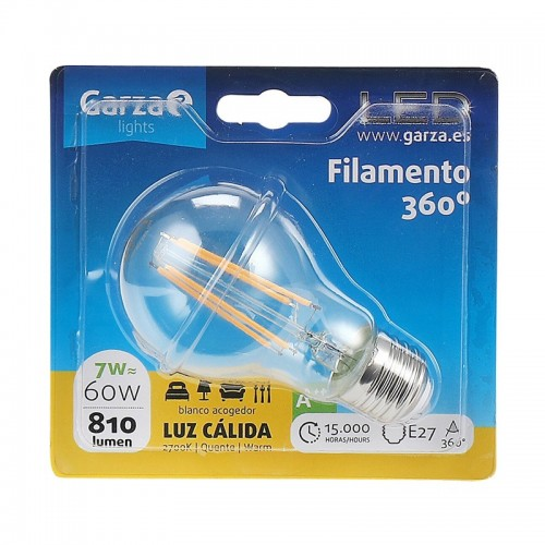 Color de luz - Luz cálida, Casquillo - E27, Potencia - 7 W
