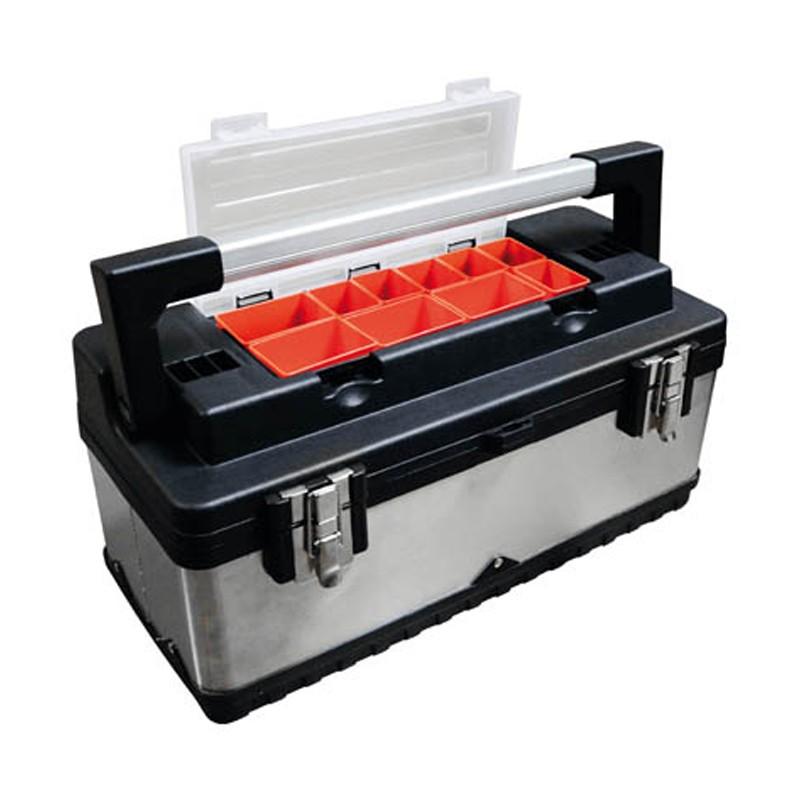 Caja de Herramientas Profesional de Acero Inoxidable y Plástico - BRESME